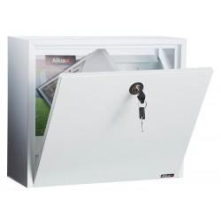 Boîte aux lettres   '061' acier blanc avec porte arriere sans clapet