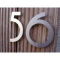 huisnummer inox model  irab op staafjes 133mm