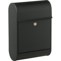 Boîte aux lettres Allux '0098' acier thermopoudré noir