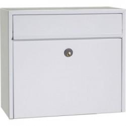 Boîte aux lettres tl002  acier thermopoudré blanc
