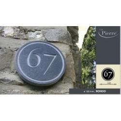 naamplaat of huisnummer in arduin rondo