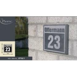 naamplaat of huisnummer in arduin style 5