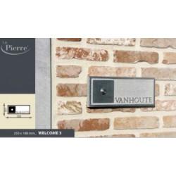 naamplaat of huisnummer in arduin welcome 1 -2 of 3