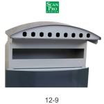 Boîte aux lettres  921 moderne avec façade en acier ROND avec support